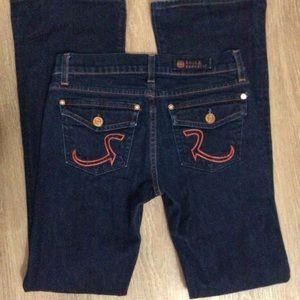 Rock & Republic dark wash bootcut jeans, size 26